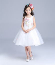 Party Dress Big Bow Baby Canada - Baby Girl Birthday Wedding Party Formal Flower Girls Dresses Little Girls Sleeveless Knee Length Pageant dress with Big Bow