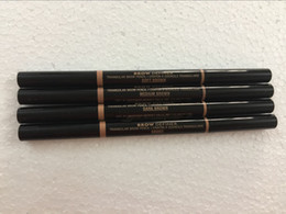 Black crayons online shopping - DHL HOT NEW makeup BROW PENCIL CRAYON gold DOuble ended with eyebrow brush g Color dhl