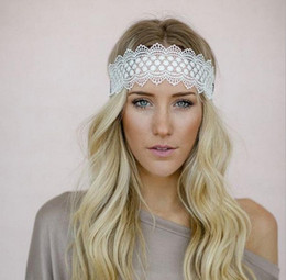 black hair kid 2018 - New 2016 Women Headbands Wonderful Lace Kids Fashion Handmade Bow Hair Accessories Pure Cotton Headband K7581 discount b