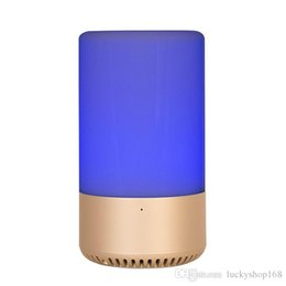 Chinese  APP Touch Control Wireless Bluetooth speaker Home speaker TF card AUX originality speaker RGB Emotional escort Music Bulb LED Table Lamp DHL manufacturers