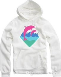 Barato Hoodie Cor-de-rosa De 4xl Do Golfinho-New Autumn Winter Men Moda Roupa Pink Dolphin Hoodies Sweater para homens Hiphop Sportswear WholeTide M-4XL