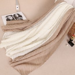 $enCountryForm.capitalKeyWord NZ - high quality Fashion cotton wrinkle double color shawls hijab autumn muslim wraps crumple long scarves scarf 11 color 200*110cm