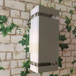 4pcs preto iluminação exterior / lâmpada de parede ao ar livre / LED varanda / luzes de jardim / luz de alumínio / à prova d 'água IP65 lâmpada de iluminação ao ar livre em Promoção