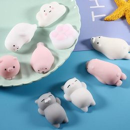 Wholesale Squishy Slow Rising Jumbo Toy Bun Toys Animals Cute Cartoon Squeeze Toy Mini Squishies Cat Panada Squishi Rare Animal for Phone Case Gifts