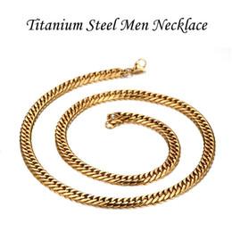 $enCountryForm.capitalKeyWord Canada - Male Classic Jewelry Collar Joyas Real Titanium Steel 18K Gold Plated Twisted Men Fashion Chains Necklace 60cm*0.75cm