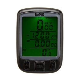 Wireless Bike Computer Speedometer Canada - Bicycle Computer Waterproof Multifunction Cycling Computer Bicycle Speedometer Odometer LCD Backlight Backlit Bike Computer 207 free ship