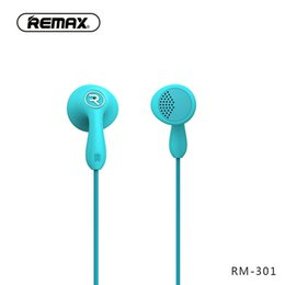 China Remax RM-301 Moblie Phone Earbuds Universal 3.5 MM Headphone 6 Colors Available Environmental Protection TPU Material suppliers