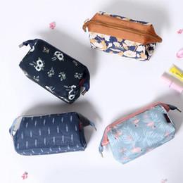 $enCountryForm.capitalKeyWord Canada - Korean Floral Pencil Pen Canvas Case Women Travel Toiletry Storage Cosmetic Purse Organizer Makeup Tools Bags Pouch 4 Colors ZHH2569 h35