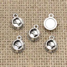 Dog Plates Australia - Wholesale 120pcs Charms Tibetan Silver Bronze Plated dog bowl bone 15*10mm Pendant for Jewelry DIY Hand Made Fitting
