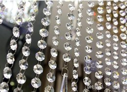$enCountryForm.capitalKeyWord NZ - 66 FT Crystal Garland Strands 14mm clear Acrylic crystal octagon beads chain Wedding Party Manzanita Tree Hanging Wedding Decorations