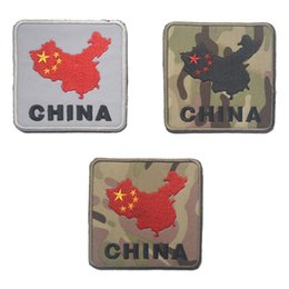 $enCountryForm.capitalKeyWord NZ - Map Of China Badge Tactical Patch Morale Patches Hook & Loop 3D 100% Embroidery Badge Badges