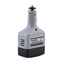China Wholesale- 12V DC to AC 220V Car Auto Power Inverter Converter Adapter Adaptor USB Plug cheap usb car plug adapter suppliers