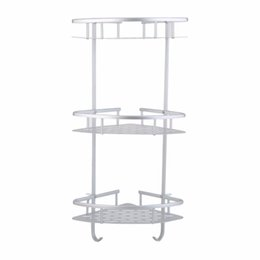 Discount Metal Corner Shower Shelf Top Quality Practical Aluminum  Triangular Shower Caddy Shelf Three Layers Bathroom