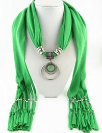 CirCle jewelry neCklaCe sCarves online shopping - Latest Cheap Fashion Ladies Scarf Direct Factory Layered Circle Jewelry Scarves Women Tassel Necklace Scarves From China