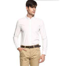 $enCountryForm.capitalKeyWord Canada - Hot sale men shirt fashion handsome groom wedding shirt good quality solid color prom dress shirt long sleeve shirt