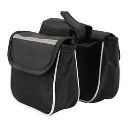 bicycle panniers front UK - Bicycle Cycling Frame Pannier Saddle Front Tube Bag Both Side Double Pouch