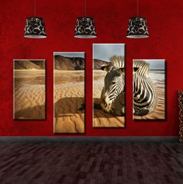 Zebra Print Art Australia - Sadness Zebra Realistic Paintings Zebra Oil Painting Canvas Art Wall Decor on Canvas Fashionable Canvas Paintings for Sale