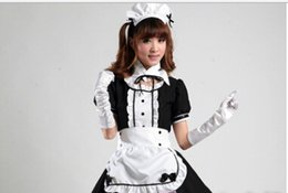 Maillot Costume Pas Cher-Costume d'halloween Sexy Français Maid Costume Doux Gothique Lolita Robe Anime Cosplay Sissy Maid Uniforme Plus La Taille Halloween Costumes Pour Femmes