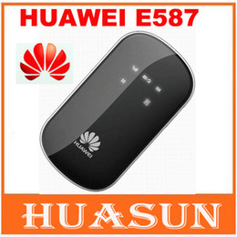 3g Wireless Wifi Hotspot Canada - DHL EMS free shipping Huawei E587 3G wireless hotspot Router unlocked 43.2mbps mobile WIFI router