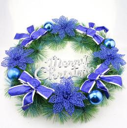 new 40cm christmas garlands pvc door wreath home decorations garland christmas ornament wall decor hyj 001 - Blue Christmas Wreath