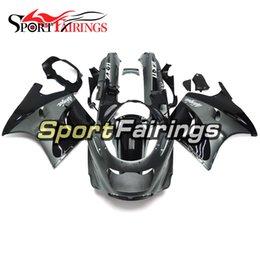 Kawasaki Fairing Kits Zx11 UK - Full Fairings For Kawasaki ZX11 ZZR1100D 93 94 95 96 97 98 99 00 01 02 03 ABS Injection Motorcycle Fairing Kit Gloss Black Silver Cowlings
