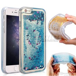 Discount clear rugged cases - Liquid Glitter Case for iPhone Cases Soft Clear TPU Quicksand Cover Case for Samsung J7 2017 LG K7 K10 Rugged Protector