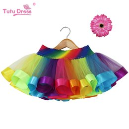 Tutus De Noël Bon Marché Pour Bébés Pas Cher-2017 Noël Nouvelle conception Summer Style Girl Skirt Baby Rainbow Jupe Cheap Kids Tutu jupe Candy Dress