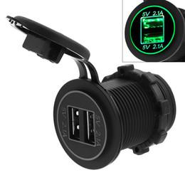 5V 4.2A Adaptateur de chargeur USB double ouverture étanche pour auto / moto / bateau CEC_62P