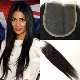 $enCountryForm.capitalKeyWord NZ - 100% Brazilian Virgin Hair 3 Way Parting 5x5 Lace Closure Top Closure Straight Natural Color Human Hair Closure Free Shipping