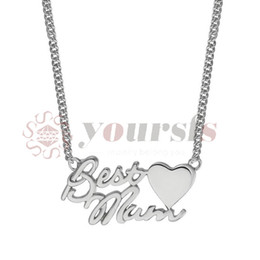 Shop mum pendants uk mum pendants free delivery to uk dhgate uk yoursfs 18k white gold plated letter best mum heart necklace chain best mothers day gift aloadofball Image collections