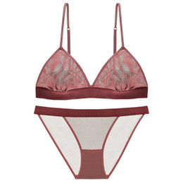 $enCountryForm.capitalKeyWord UK - MOXIAN  thin section embroidery without steel ring ultra thin triangle cup ladies underwear bra set TZ45A47054D