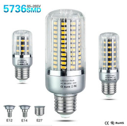 E14 candlE light bulb 15w online shopping - LED Bulb SMD5736 More Bright LED Corn Lamp Bulb Light W W W W W E27 E14 V V No Flicker