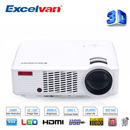 $enCountryForm.capitalKeyWord Australia - Wholesale- Excelvan LED33-02 Home Theater 3D Projector 2600Lumens Proyectores LED Full HD 1080P Support Tablet Smartphone USB Disk TV Box