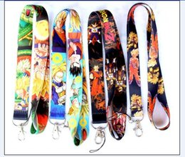 Discount dragon ball cell - New Free shipping 100pcs Mixed Style Cartoon Dragon Ball Neck Lanyard for MP3 4 cell phone key chain Mobile Phone Straps