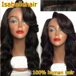 Human Hair Wig Body Bang Canada - Body Wave 100 Human Hair Wigs With Bangs Brazilian Remy Full Lace Wig   Lace Front Wigs Black Women With Baby Hair Bleached Knots