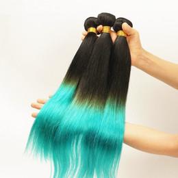 $enCountryForm.capitalKeyWord Canada - 9A Grade Virgin Peruvian Silky Straight Ombre Human Hair #1B Teal Two Tone Ombre 3Bundles Peruvian Ombre Virgin Hair Weaves DHL Free