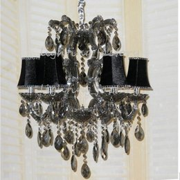 $enCountryForm.capitalKeyWord Australia - 6head European-style crystal chandelier living room French restaurant smoky gray glass crystal chandelier bedroom candle chandelier