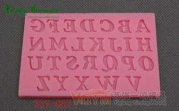 $enCountryForm.capitalKeyWord Canada - New Fondant Cake Capital Letters Alphabet Molds Set Silicone Molds bakery mini muffin decorating tools Cake Decorating Tool Soap Molds