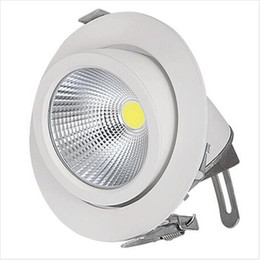 15w led downlight cob epistar UK - Free shipping Epistar COB light Adjustable Retail White Downlight 15W 25W 35W COB Down light Spotlight with adjustment angle in 2 directions