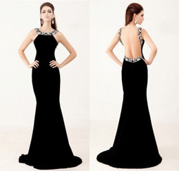 $enCountryForm.capitalKeyWord Canada - Black Turtleneck Strapless Formal Evening Dresses 2016 New Beaded Backless Long Pageants Dress sexy Mermaid Adults Canonicals Plus Size