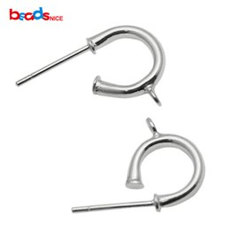 $enCountryForm.capitalKeyWord UK - 925 Sterling Silver stud earring Pure Silver earring Sterling Silver unique design Earring accessories diy gift for her, 7x11x0.8mm,