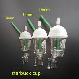 Mcdonald pipe online shopping - Starbuck Cup oil rig glass bong Bongs glass dome and nail Hookah glass water pipe McDonald Cup Spritech bongs