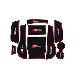 Audi door pAnel online shopping - 9pcs Non Slip Rubber Interior Car Door Armrest Storage Panel Mat Cup Holder Slot Pad Cover Sticker For Audi A3