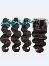 $enCountryForm.capitalKeyWord UK - Cheap 8A High Quality Brazilian Body Wave with Silk Base 4*4 Lace closure No Tangle No Shedding Soft Full Free Shipping Fee Hair Extenstion