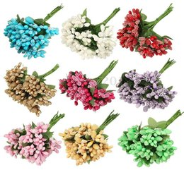 Chinese  Knives Folding 2016 New Artificial Berry Flower Bridal Bouquet Wedding Party Home Decor Accessories Diy Rose Bouquets Artificial Flowers manufacturers