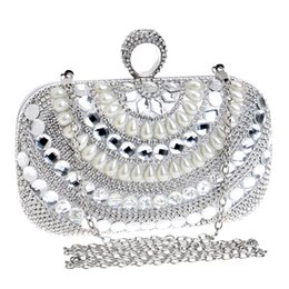 Silver Pearl Clutch Bag Online | Silver Pearl Clutch Bag for Sale
