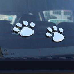 Footprints Stickers Canada - Stylish Bear Paw Pet Animal Footprints Emblem Car Truck Window Decor 3D Sticker Decal Car Sticker Cool Car Styling