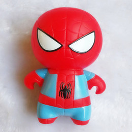 Marvel Heroes Toys Wholesale Canada - Adorable Cute Marvel Super Hero Toy Spider-man The Amazing Spiderman Keychain Soft Plastic Mini Hero Key Chain Pendant Keyring