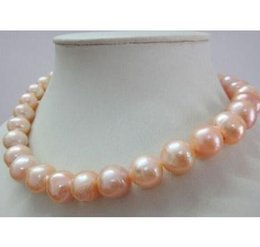 14k Gold Filled Pearl Australia - Beautiful AAA 9-10mm round south sea gold pink pearl necklace 19 inch 14k gold clasp
