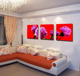 Beautiful peonies painting online shopping - Beautiful Peony Flowers Fine Floral Painting Giclee Print On Canvas Home Decor Wall Art Set30291
